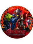 7.5 Personalised Avengers 2 Age of Ultron Edible Icing Cake Topper